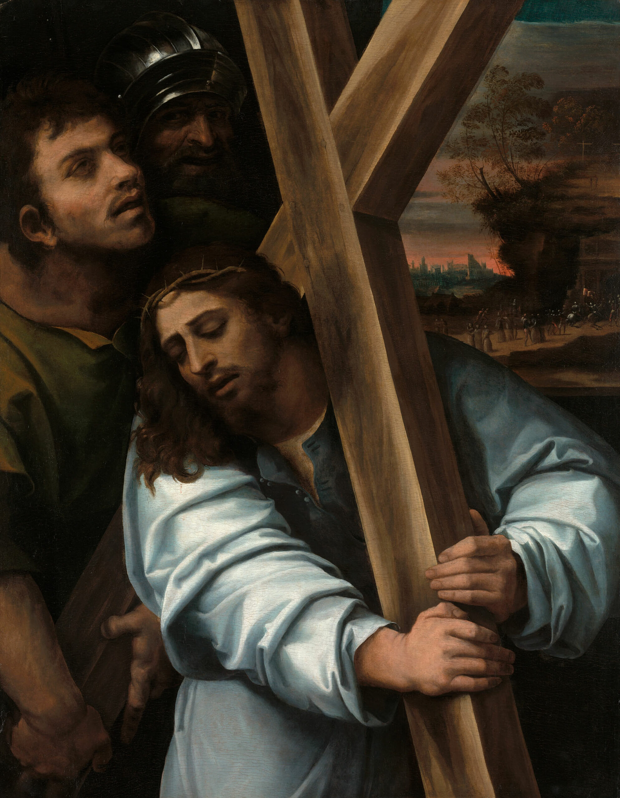Passion Christ carries His cross by Sebastiano del Piombo Chicago Art Institute public domain