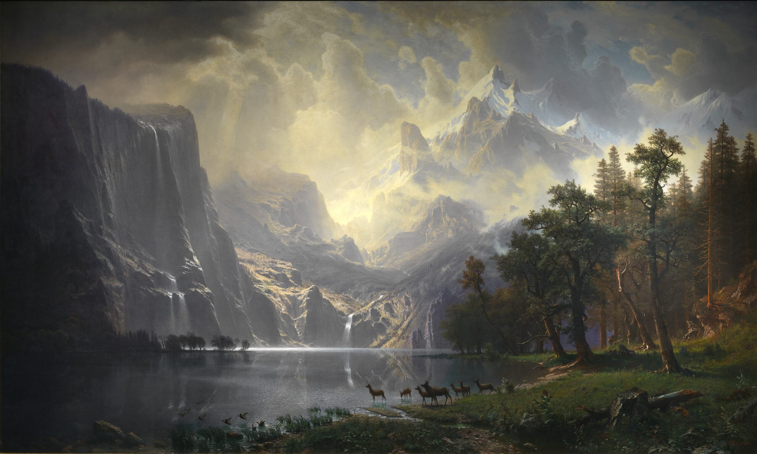 Photo by Albert Bierstadt, Among the Sierra Nevadas, CA from Smithsonian Institute CCO